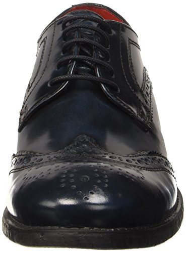 Base London Coniston, Chaussures Lacées Homme Bleu (Washed Blue)