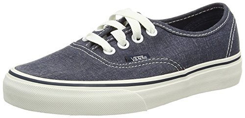 Vans Unisex-Erwachsene Authentic Outdoor Fitnessschuhe Blau - Bleu (Washed - Dark Blue)