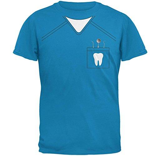 Old Glory Halloween Zahnarzt Scrubs Kostüm Mens T-Shirt Sapphire LG