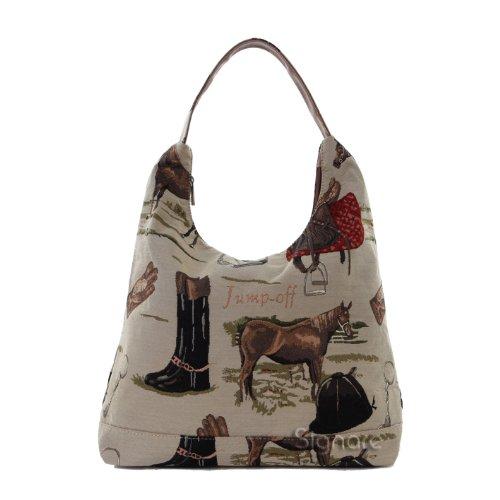 Signare besace sac d'épaule tapisserie mode femme Cheval