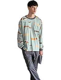 6722896131 Oneworld Damen Herren Liebespaar 100% Baumwolle Pyjamas Set Zweiteiliger  Schlafanzug Hausanzug Nachtkleid Nachthemd…