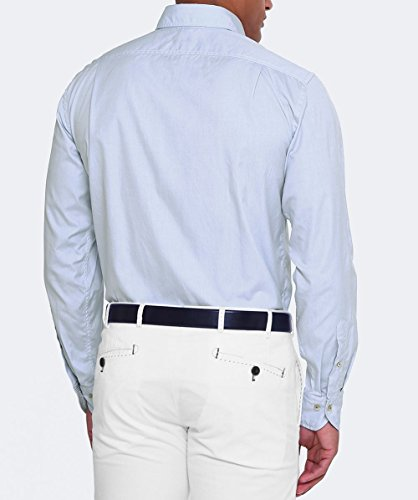 Stenstroms Hommes chemise de toile de coton Bleu Bleu