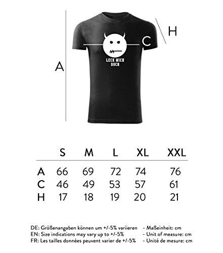 Herren Shirt Leck mich doch schwarz & weiß Motiv - T-Shirt Poloshirt mit Motiv - Neu S - XXL Schwarz