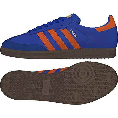 adidas Herren Samba Og Fitnessschuhe, Blau (Azufue/Naranj / Gum5 000), 42 EU - Samba-fußball
