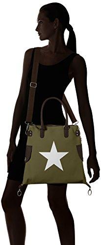 Bags4Less - Stern-mini, Borsa a tracolla Donna Grün (Velours-Grün)