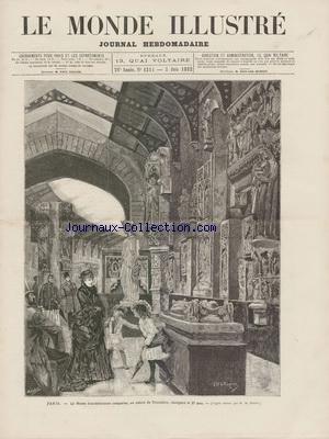 MONDE ILLUSTRE (LE) [No 1314] du 03/06/1882 - LE MUSEE D'ARCHITECTURE COMPAREE AU PALAIS DU TROCADERO D'APRES MARTIN - REIMS - LE GRAND CONCOURS DE GYMNASTIQUE - DESSIN DE URRABIETA - PHOTO DE TROMPETTE - LES TROUBLES DU QUARTIER LATIN PAR LEPERE par Collectif