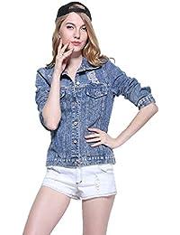 Suchergebnis auf f r jeansjacke mit stoff rmeln for Jeansjacke damen lang