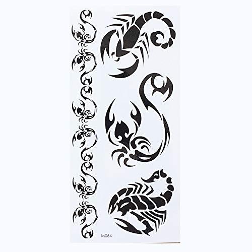 lihaohao Temporäre Englische Wort Tattoo Aufkleber Schwarz Buchstaben Feder Body Art Tattoos Aufkleber Wasserdicht Für Temporäre Tattoos 19X9Cm 6Pc
