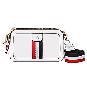 AISPARKY Damen Umhängetasche, Crossbody Handtasche Schöne Shopper Geldbörse Schultertaschen für Damen,Frauen,Mädchen,Leder Einfarbig Schulter Bag Umhänge Tasche für Shopping Reisen Arbeit
