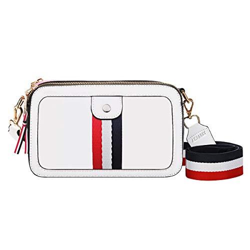 che Handtasche Kleine Damen Tasche Crossbody Geldbörse Schultertasche für Frauen,Women Leder Cross Body Bag Diagonale Umhänge Quadratische Tasche für Shopping Reisen(Weiß) ()