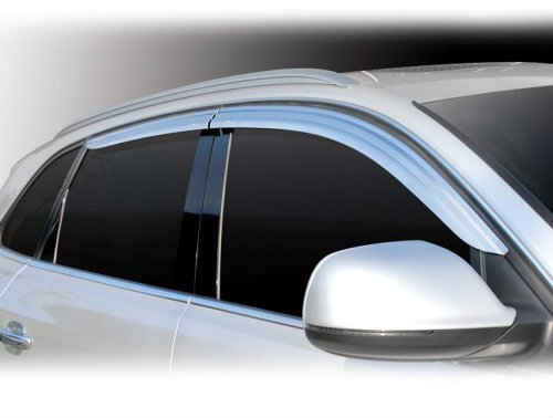 Tuning Zubehör für Audi Q5 2008-2011 Chrom Windabweiser Regenabweiser Safe Window Visor Chrome
