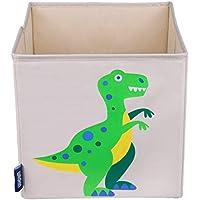 Preisvergleich für Wildkin W640412 Aufbewahrungswürfel für Kinder, Dinosaurier, Beige