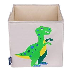 Wildkin W640412 Dinosaurio - Cubo de Almacenamiento para niños, Color Beige