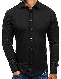 Yvelands Liquidación Camisa Formal Casual para Hombres, Solapa para Hombres Camisa Slim fit Casual para otoño Blusa Superior Camisa Hombres