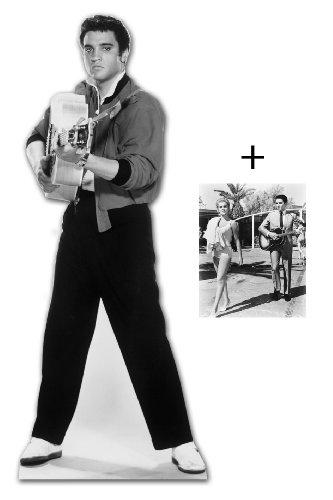 *FANBÜNDEL* - ELVIS PRESLEY SHOOTING mit GUITAR - LEBENSGROSSE PAPPFIGUREN / STEHPLATZINHABER / AUFSTELLER - ENTHÄLT 8x10