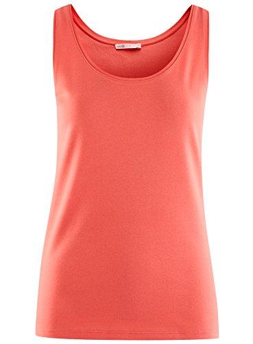 oodji Ultra Damen Jersey-Trägertop Basic Rot (4300N)
