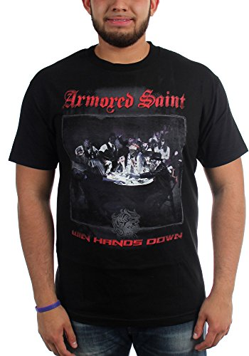 Armored Saint-Win Hands Down-Maglietta da uomo Nero  nero