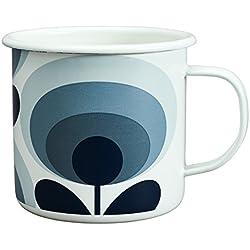 Orla Kiely taza esmaltada, pizarra, color blanco