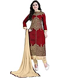 eebb8c690cd Siddeshwary Fab Women s A-line Taffeta Silk Salwar Suit Dress Material