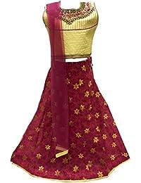 GLC2634 Oro antiguo y Lengha Choli de Magenta oscura Indian Bollywood Fancy Dress