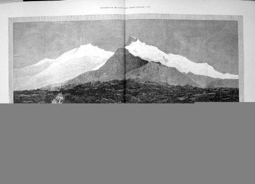 Expeditions-Leutnant 1890 Ruwenzori-GebirgsMond-Afrikas Stanley Stairs - Afrika Antique Print