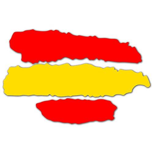 2 unds Pegatina vinilo adhesivo bandera España para cascos coches motos ciclomotores...