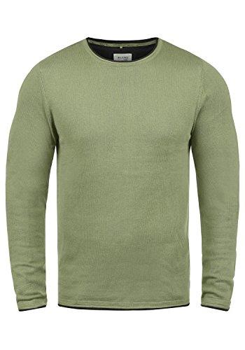 Blend Odin Herren Strickpullover Feinstrick Pullover Mit Rundhals Aus 100% Baumwolle, Größe:XL, Farbe:Oil Green (77202)