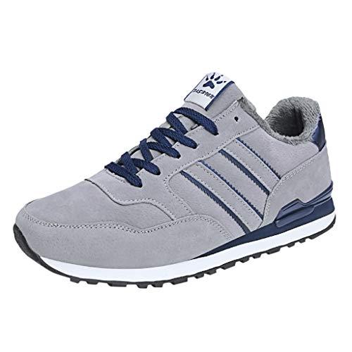 Scarpe da Trail Running Scarpe Moda Sportive Scarpa da Tennis Pantofole Ciabatte Invernali Slipper Ciabatte Zoccoli (45 EU,Plus Velvet-Grigio)