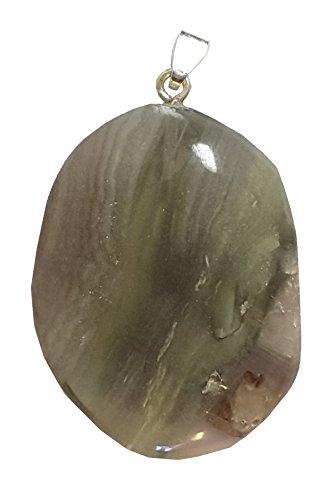 KRIO® - schöner großer Regenbogen Fluorit mit Silberöse -
