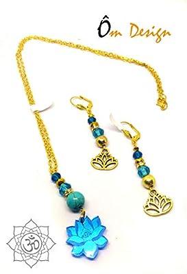 Parure lotus *plexiglas turquoise*