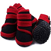 Feidaeu Zapatos para Perros a Prueba de Agua Antideslizante Neopreno Botas  de Tela Caliente para el 710ed4ad844