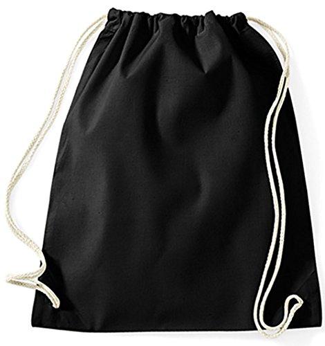 Jutebeutel Turnbeutel Sportbeutel Stofftasche Baumwolltasche Tasche Rucksack mit Kordel Gymsack Penguin Heart Love Liebe Pingu Motiv 98 Pinguin Herz (Grau) Schwarz