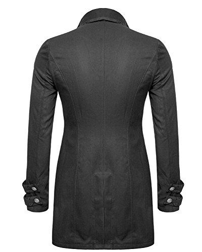 Matrimonio In Frac : Star leather 100% cotone mens gotico da giorno giacca frac nero