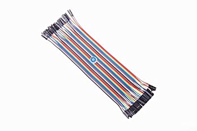SMAKN® 40 Pcs 1 Pin Female to Female Jumper Cable Wires 20cm