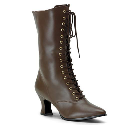 Higher-Heels Funtasma Renaissance-Stiefel Victorian-120 mattbraun Gr. 40 -