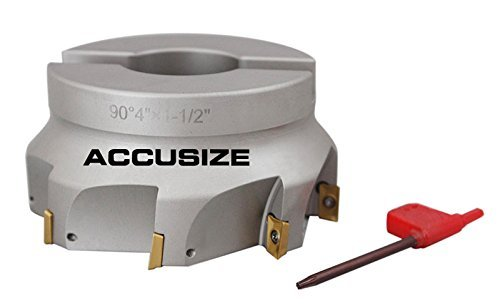 accusize–10,2cm X 1–1/5,1cm 90°. Quadratische flaschenschulter indexable Face Mühle w/APKT einfügen, # 4508–0020