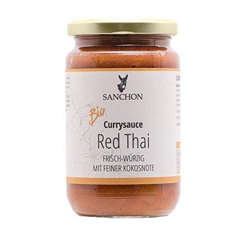 Sanchon Bio Red Thai Thailändische Currysauce (2 x 350 ml)