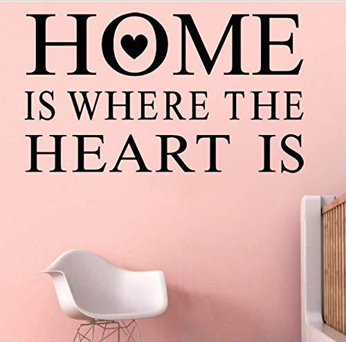 WENHAODJ Zuhause ist das Herzstück der Vinyl abnehmbare Satz Wandaufkleber Dekoration DIY wasserdichte Wandtattoo Wohnzimmer 76x44cm