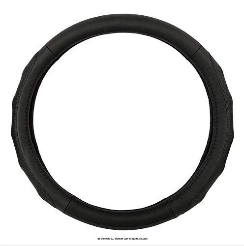 Preisvergleich Produktbild TZYY Universal Atmungsaktiv Lenkradhülle, Klassisch Mikrofaser Echtes Leder Auto lenkradhülle Erstklassige qualität Gemütlich Autodekoration-B Durchmesser:38cm(15inch)