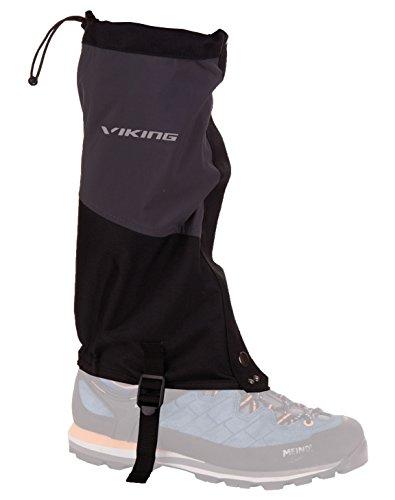 viking Gamaschen Damen und Herren wasserdicht Schneeschutz Regenschutz - ideal für Outdoor und Trekking, sehr robust - 4729, 08 schwarz/grau, S/M