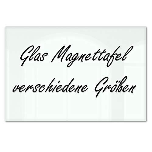 Master of Boards® Glas Magnettafel Lissabon - 5 Größen wählbar - 30x45cm (Magnetic Glass Board)