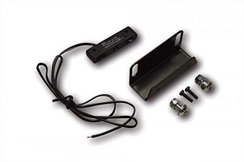 ShinYo Motorrad-Kennzeichenhalter Halter mit Shin Yo Micro LED Kennzeichenleuchte, Unisex, Multipurpose, Ganzjährig, schwarz