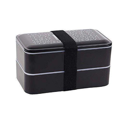 OldPAPA Bento Box - Dein Essen Immer griffbereit - Lunchbox brotdose Schule Brotbüchse mit Zwei Fächern - mikrowellengeeignet – Inklusive Besteck und Trennelementen