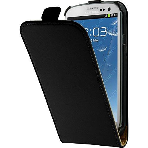 PhoneNatic Copertura di Cuoio Artificiale per Samsung Galaxy S3 Neo - Flip-Case Nero - Cover + Pellicola Protettiva
