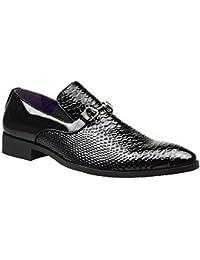 Zapatos de hebilla para hombre de piel, estilo casual y formal, color marrón, tamaño 40, 41, 42, 43, 44 y 45