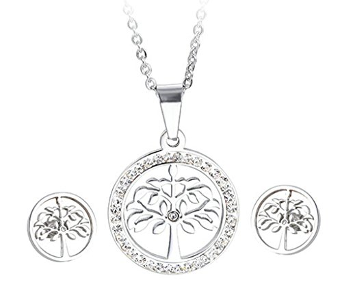 gnzoe-jewelry-womens-jewelry-sets-silver-stainless-steel-live-tree-zirconia-elegant-chain-earrings-s