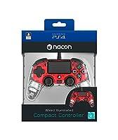 Nacon - Mando Compacto para PS4, color Rojo Cri...
