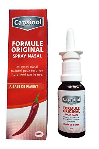 Capsinol spray nasal à base de piment, 100% naturel, efficace en cas de rhinite et sinusite