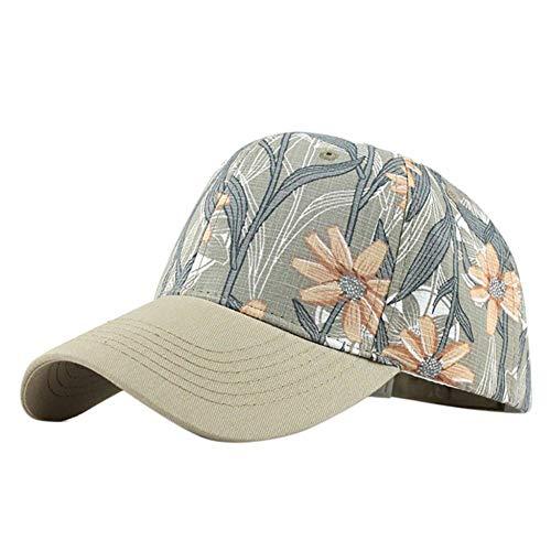 ZLJII Hüte Unisex Baumwolle Sonnenhut Washed Canvas Visor Printed Outdoor Cap Einstellbare Kappen,Khaki Canvas-cap Khaki