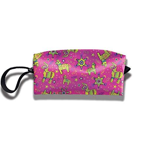 Pencil Bag Makeup Bag Festliche Pink Pinata Tolietry Taschen Frauen Kosmetiktasche Multifunktions-Reißverschluss